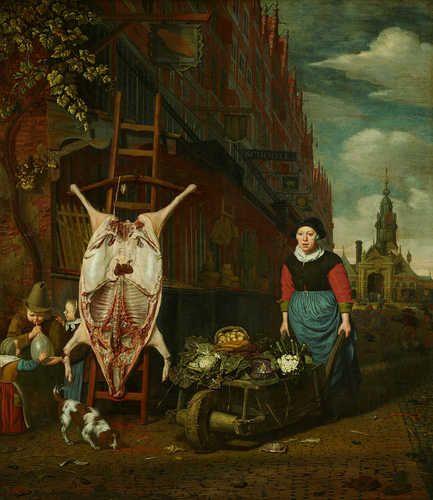 ハートアムステルダム歴史博物館 - ミシェル·ファンMusscher、Haarlemmerpoortに顔を豚革、1668(复帰后)
