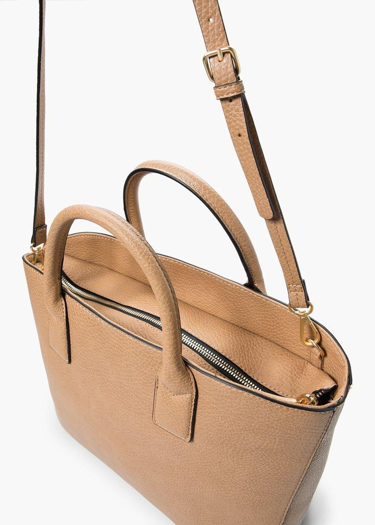 Plebbed shopper bag