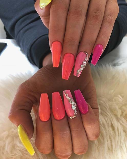 23 Nail Ideas To Try This Spring: 23 Neon Nail Designs That Are Perfect For Summer