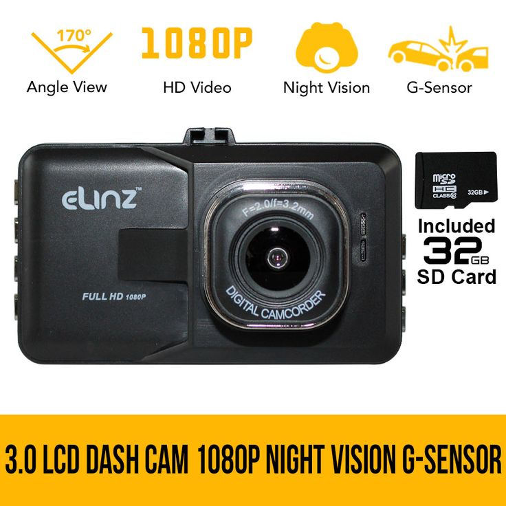 3.0 LCD Dash Camera Cam Video Car DVR Recorder 1080P HD Night Vision 32GB