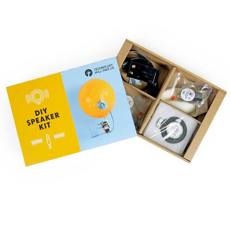 DIY Speaker Kit - Amplify your world by turning an object you love into a unique and portable speaker. Ages: 10+