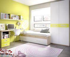 Cameretta moderna K 253,mobili per ragazzi e bambini, letto, armadio e scrivania