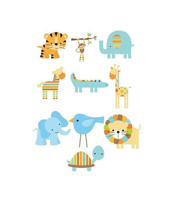 Baby animals cartoon baby shower