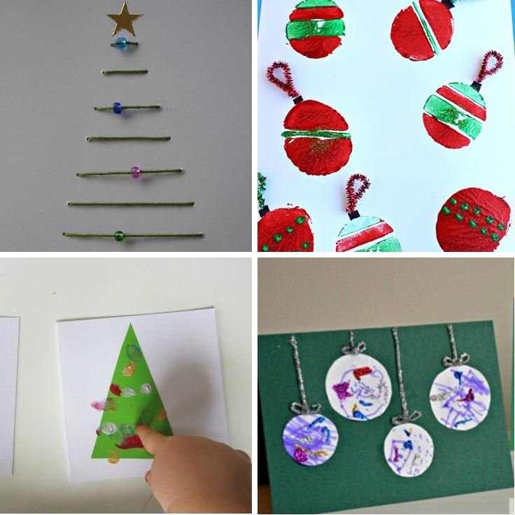 Christmas Card Making Ideas For Children Part - 19: 11 Totally Adorable Homemade Christmas Cards For Kids To Make For Grandma!