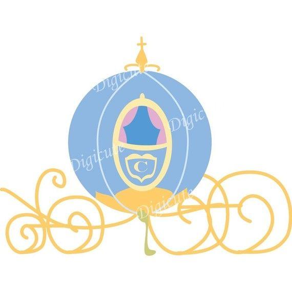 Cinderella Carriage Clip Art | Disney Princess Cinderella's Pumpkin Carriage Digital Clip Art