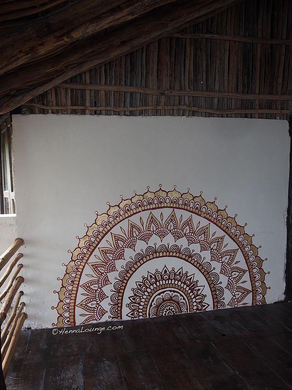 mandala painting in Tulum by henna lounge