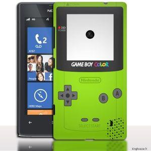 Coque Nokia Lumia 520 Gameboy Color Verte - Coque de Nokia 520 Lumia. #GameboyColor #Vert #NokiaLumia #520 #coquetelephone