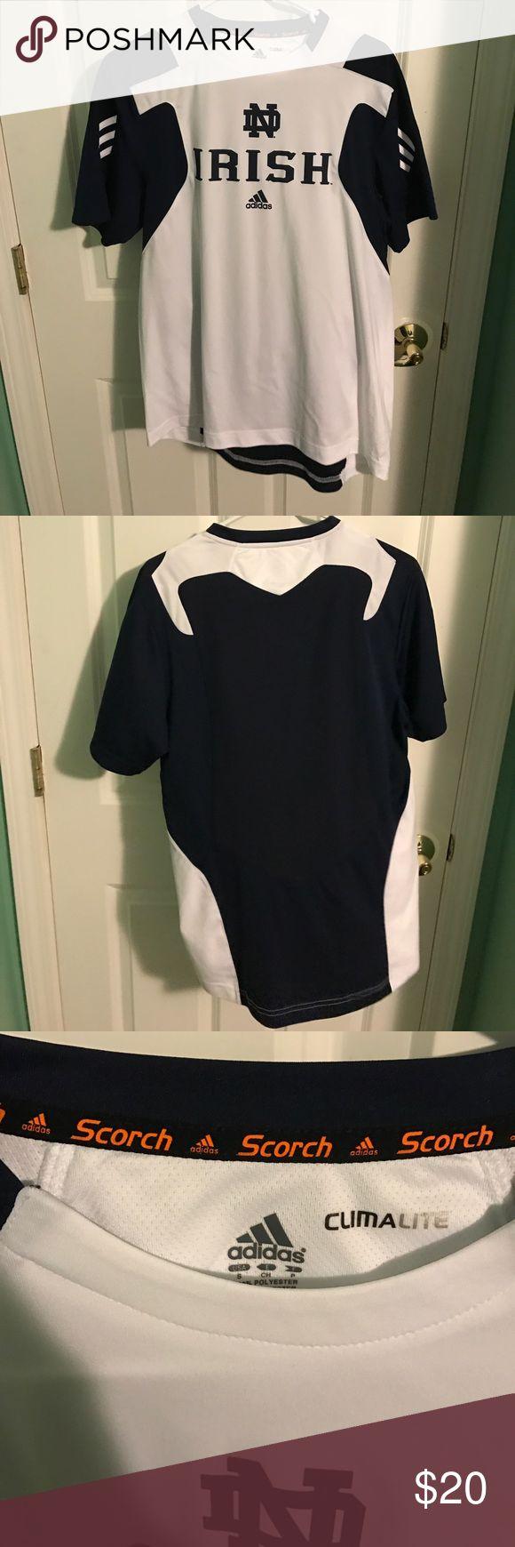 Adidas Notre Dame 'Irish' Athletic Shirt Hardly worn, Notre Dame athletic shirt with climatelite technology, breathable and light fabric adidas Shirts Tees - Short Sleeve