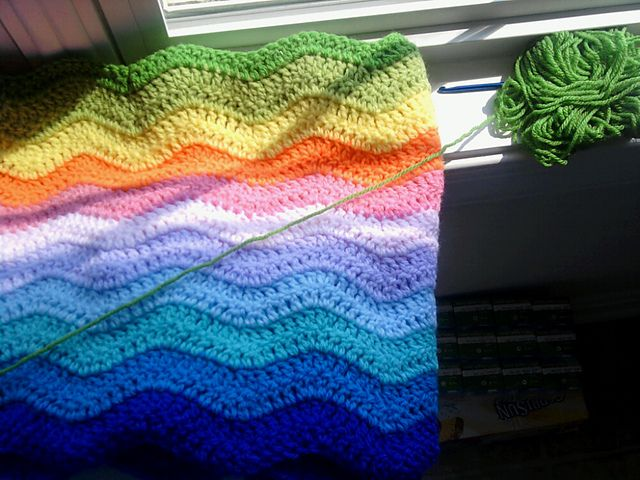 Ravelry: Project Gallery for Lazy Wave Chevron pattern by Michael Sellick