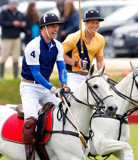 Prince William and Prince Harry, guys playing polo looks super hot!