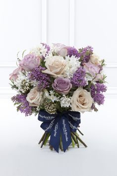 Roses, narcissus, lilacs. Light purple, cream, and white. Valentine's Day 2016 : Pink & Lilac Rose Bouquets | Flowerona