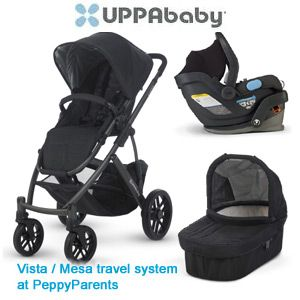 I'm the coolest parent on the block with my stroller from PeppyParents.com! UPPAbaby Vista and Mesa travel system (2013/2014) - Free Shipping, No Sales Tax #peppyparents