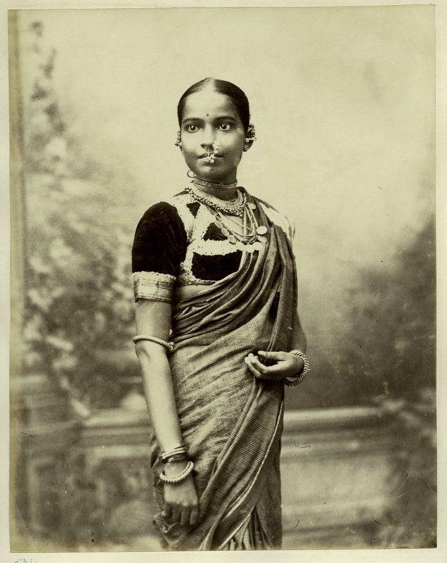 Traditional Indian Saris 1860