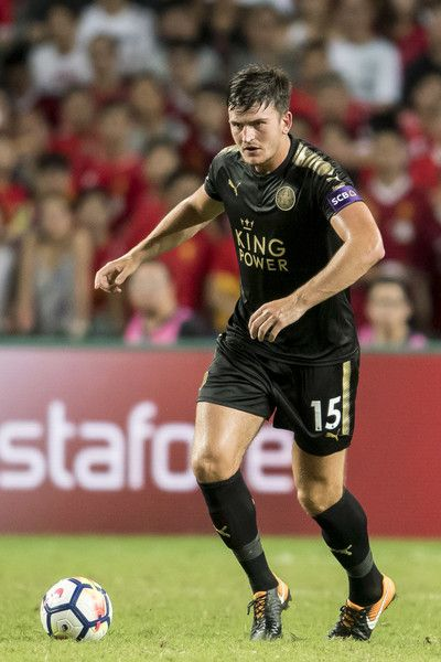 Leicester City FC defender Harry Maguire in action during the Premier League Asia Trophy match between Liverpool FC and Leicester City FC at Hong Kong Stadium on July 22, 2017 in Hong Kong, Hong Kong.