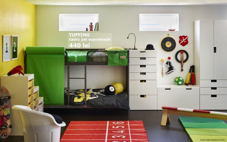 Cadrul de pat TUFFING este o soluție potrivită pentru spațiile mici, pentru că îți oferă mai mult loc pentru învățat sau joacă, nu doar pentru nopți liniștite. Până pe 5 noiembrie, membrii IKEA FAMILY se bucură de până la 20% reducere la toate paturile. Oferta este valabilă în limita stocului disponibil.