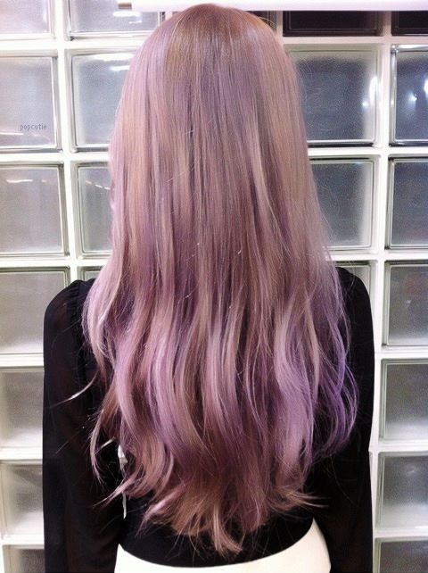 Long, straight lilac purple hair // #hairstyle #hair