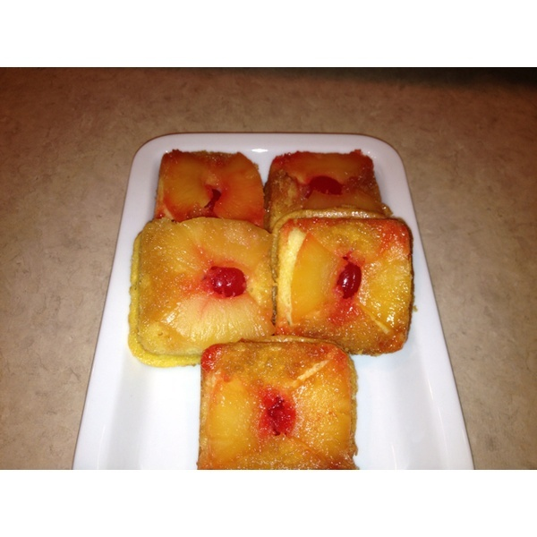 Mini pineapple upside down cakes using the #Pampered Chef brownie pan ...
