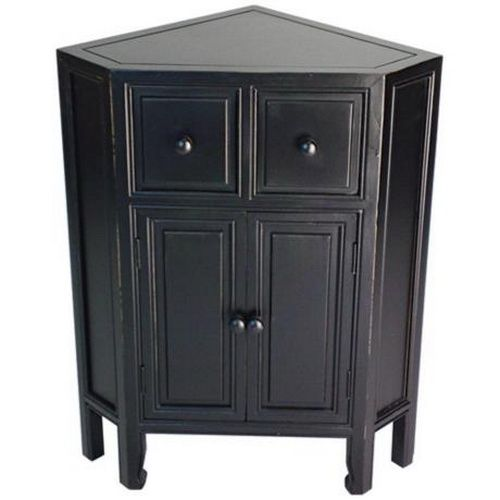 Kitchen Furniture Corner: Black Corner Storage Cabinet...