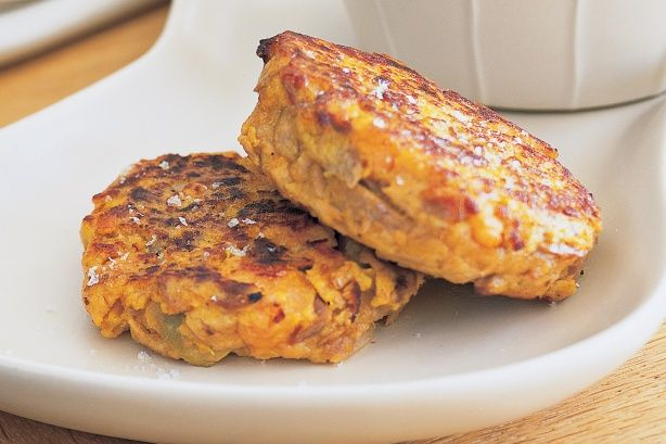 Tuna & Sweet Potato Cakes Recipe - Should try this for Mark