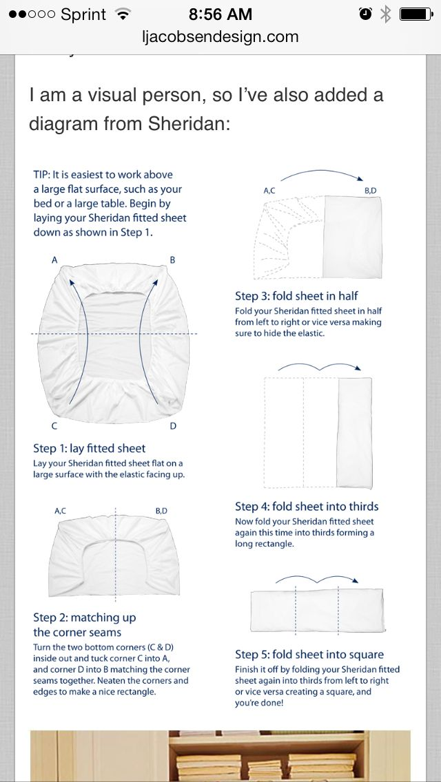Diagram For Folding Fitted Sheet Housekeeping