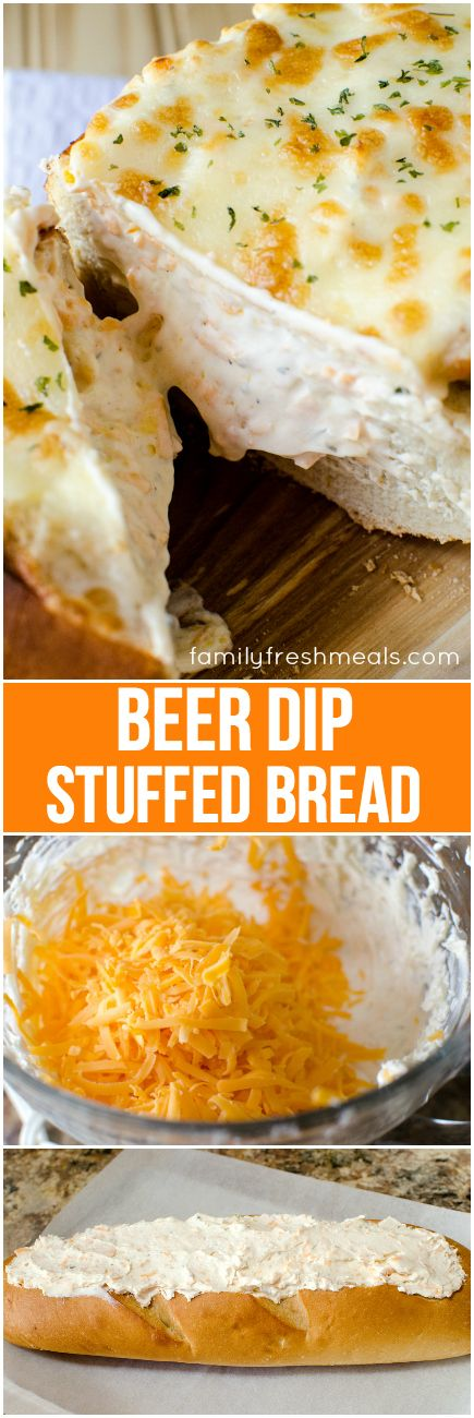 Beer Dip Stuffed Bread Recipe - Family Fresh Meals