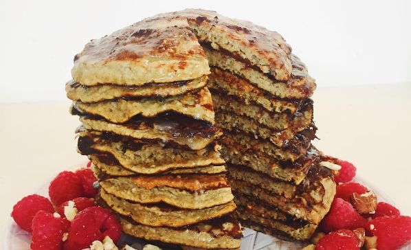 Ultieme pannenkoekentaart met pindakaas en Nutella – Taartje van Claartje