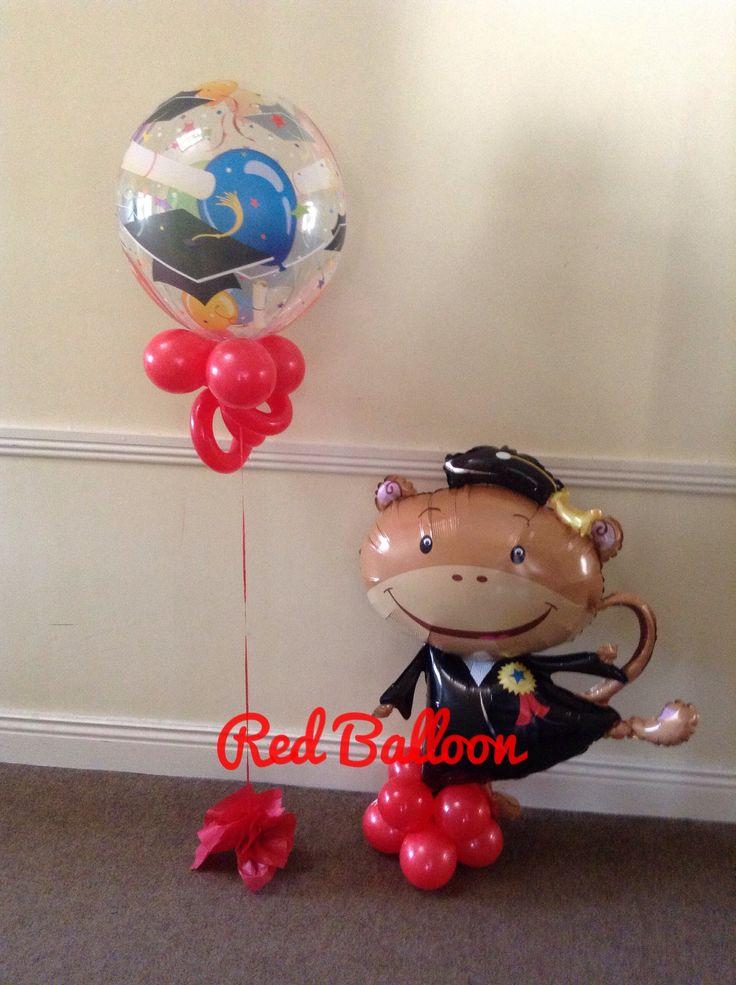 Monkey, congratulations, balloon, balloons, student,