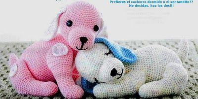 Perritos Puppy Love  Amigurumi ~ Patrón Gratis en Español http://labrujayelunicornio.blogspot.com.es/2010/11/os-presento-puppy-love.html