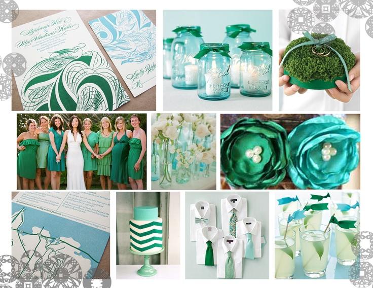 2013 Emerald and Aqua Colour Trend