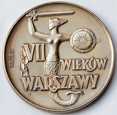10 zlotych 1965, Mermaid, 700 Years od Warsaw, Pattern Coin, Proba, version 2 • CAD 26.37 - PicClick CA