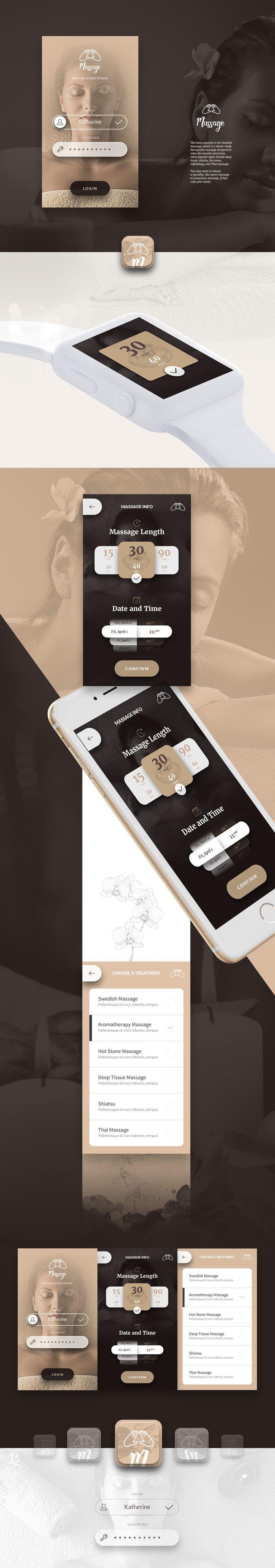 Massage The App on Behance