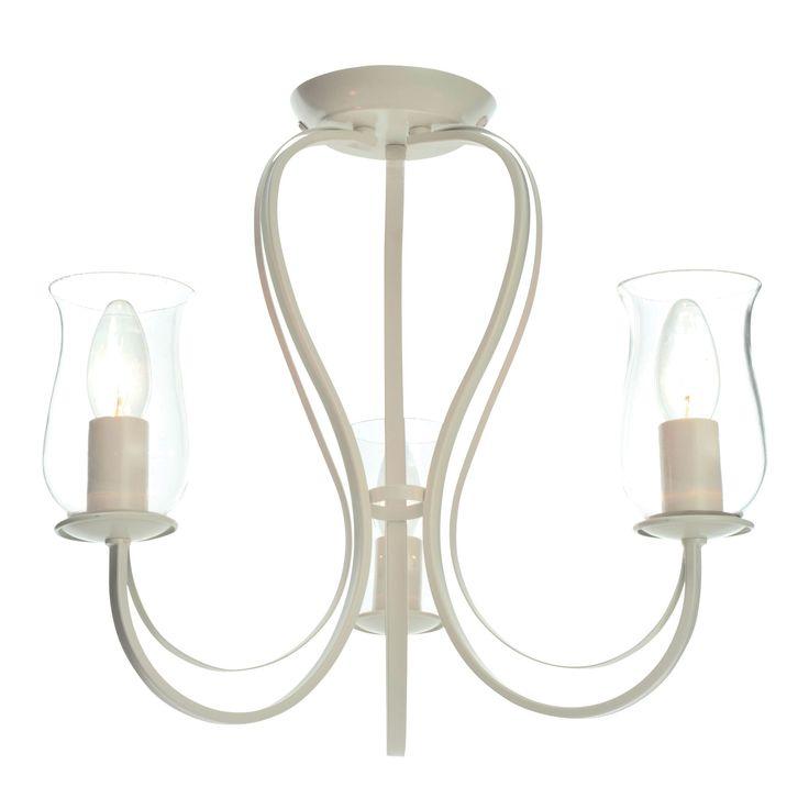 Chateau cream porcelain effect 3 lamp ceiling light