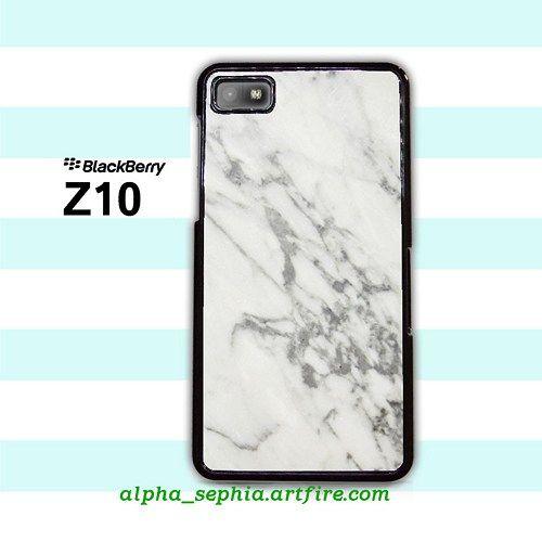 Grey Marble BlackBerry Z10 Case Cover