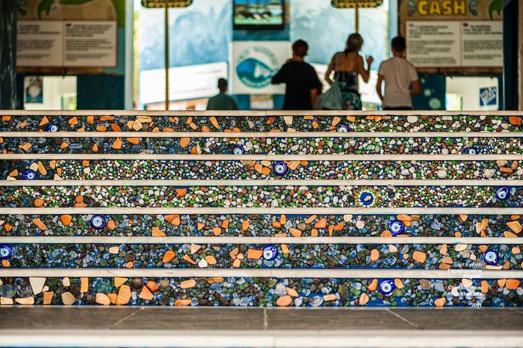 Mosaic Stair Art–Waterpark Entrance
