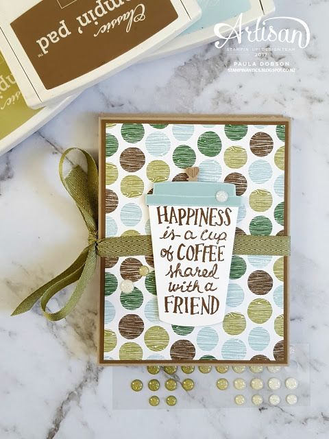 Mini Album featuring the Coffee Cafe Bundle of products for Stamp to Share. Take the hop! - Paula Dobson #pauladobson #stampinantics #coffeecafestampset