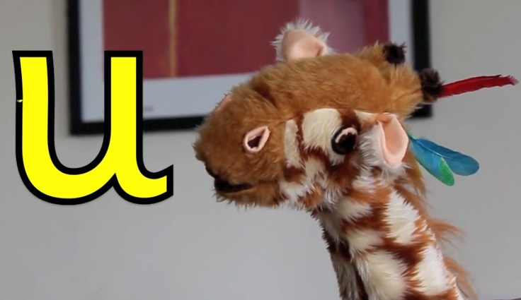 Today, Geraldine the Giraffe is learning about the letter u