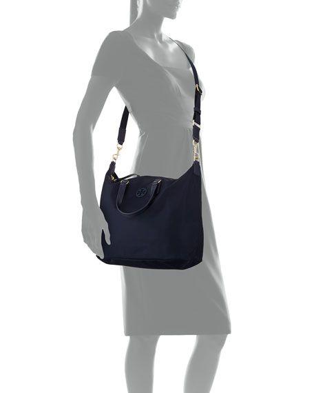 ebe29e1f5 Tilda Slouchy Nylon Satchel Bag   Wish List!   Satchel, Bags, Tory burch