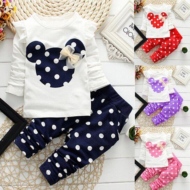 Natale 2017 inverno stile scherza i vestiti neonato set di abbigliamento in cotone Minnie vestiti casuali 2 pz baby girl vestiti del bambino set
