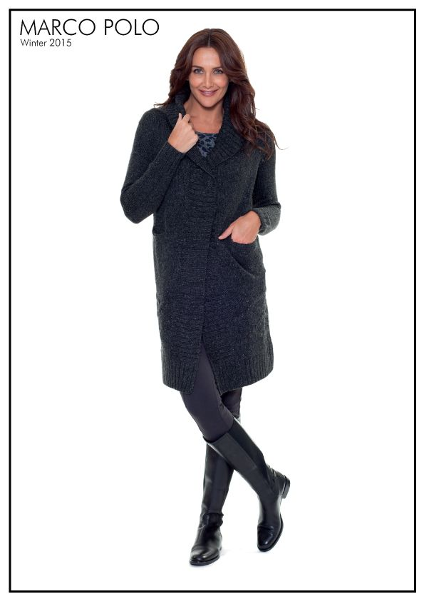 Give your classic outerwear a seasonal, feminine feel with the Charcoal Long Sleeve Wrap Cardigan. Delicately shaped with our modern wrap front and self yarn textured stripe detail. The draped style is rendered in a soft wool blend for all day comfort. Featuring long sleeves, stud fastening with feature button and rib detailing, this cardigan is sure to become a Winter favourite. http://www.marcopolo.net.au/jackets/wrap-cardigan-charcoal-mw53094.html
