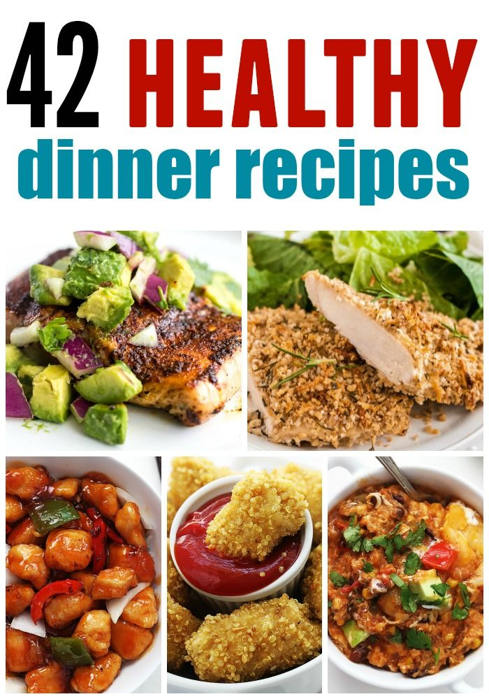 42 Healthy Dinner Recipes rounded up all in one spot! They all are so delicious and you don't have to compromise on taste!