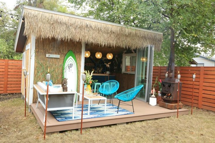 Indoor Outdoor Living In An Entertaining Shed Using