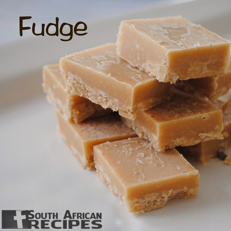 South African Recipes FUDGE (Alice Levy)
