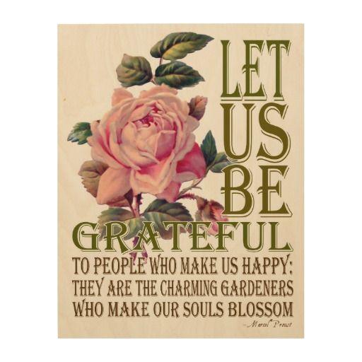 Let Us Be Grateful Wood Canvas