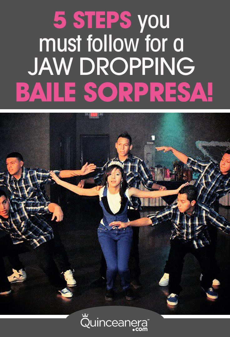 Have yet to decide on your baile sorpresa song? Or, you've chosen the song but have no clue what to do for a choreography for your surprise dance? These next videos will serve as inspiration!  - See more at: http://www.quinceanera.com/planning/5-steps-you-must-follow-for-a-jaw-dropping-baile-sorpresa/?utm_source=pinterest&utm_medium=social&utm_campaign=planning-5-steps-you-must-follow-for-a-jaw-dropping-baile-sorpresa#sthash.FC6mG87u.dpuf