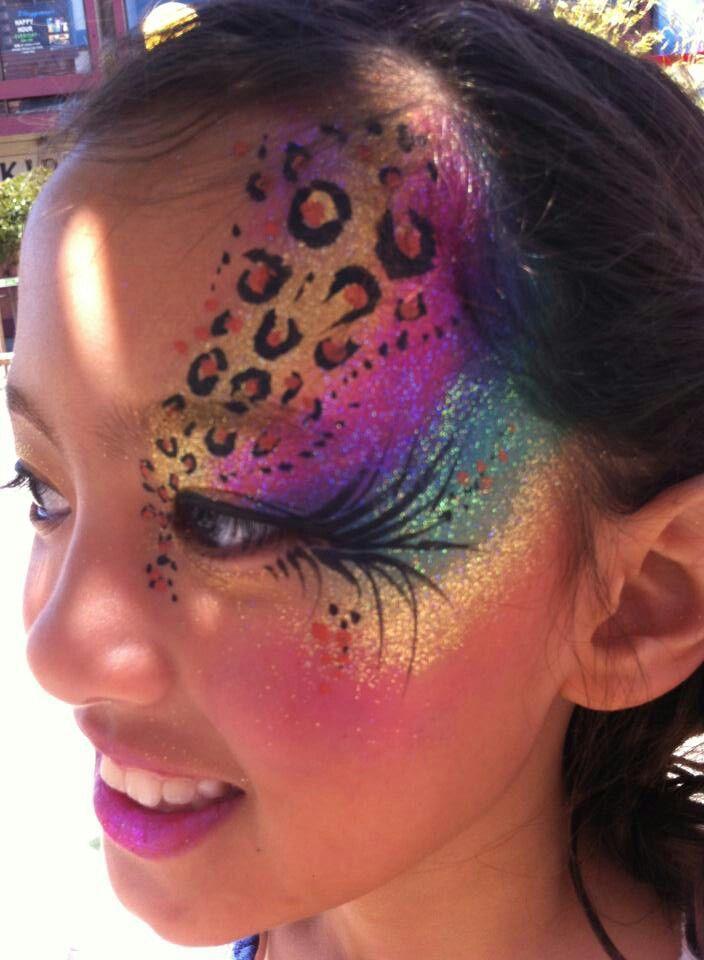 Cheetah face painting ideas