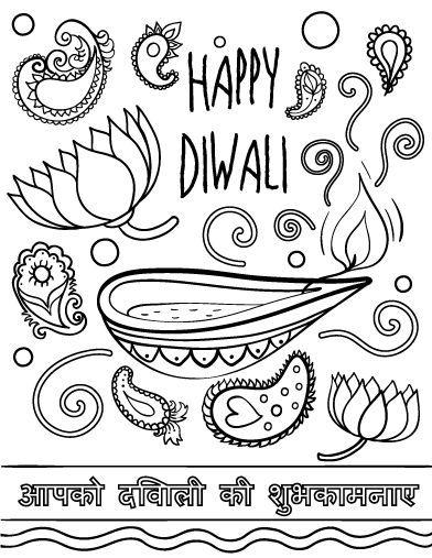 Printable Diwali Coloring Page Free PDF Download At
