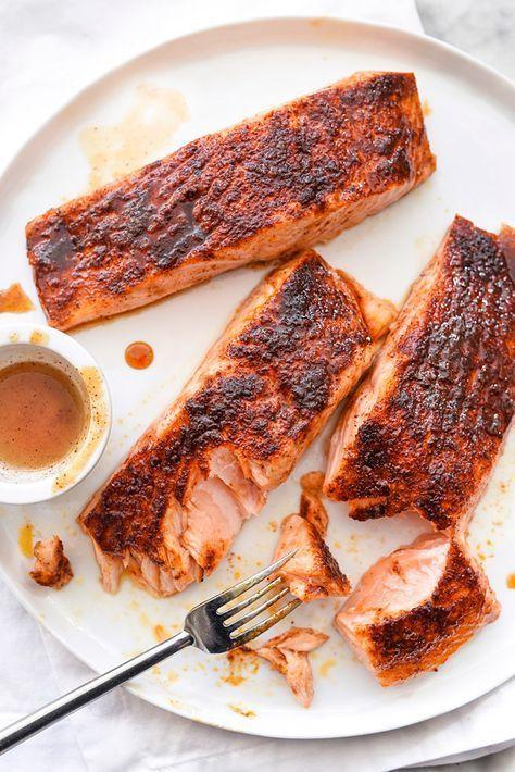 Maple-Crusted Salmon | http://foodiecrush.com