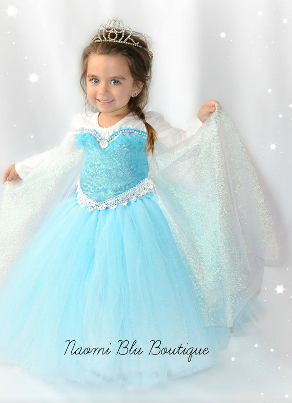 Disney Inspired Frozen Princess Queen Elsa Tutu Dress. by NaomiBlu, $70.00 Tutu dress, costume, frozen birthday party, Disney