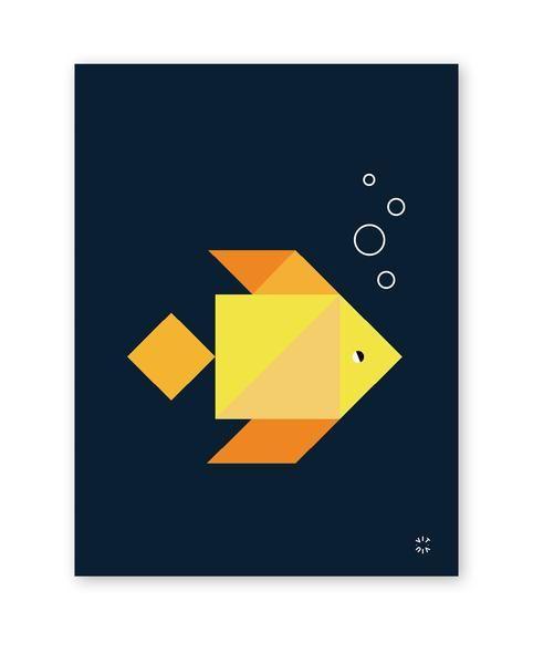 TANGRAM poster - Goldfish