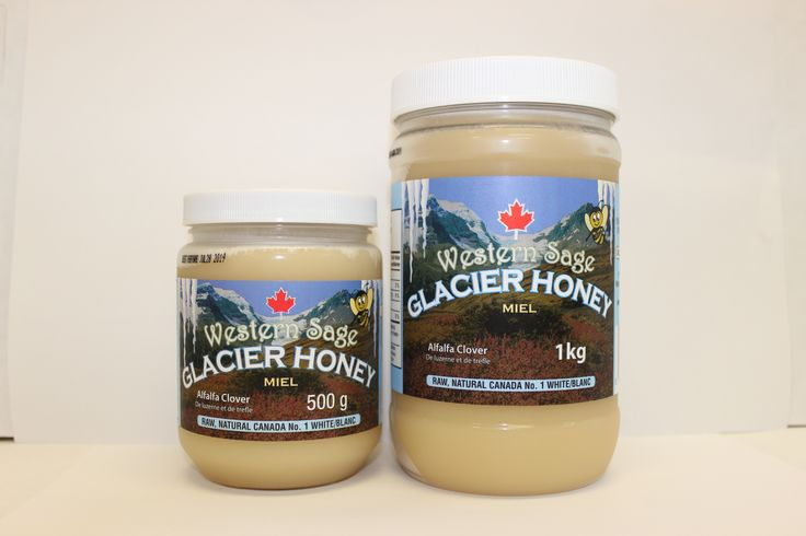 GLACIER HONEY!!!! Western Sage and KB Honey (aka Kidd Bros), Ingredients:  100% Pure Canada No. 1 White Natural Honey ..... Our creamed honey's will never crystallize so you will have the perfect texture of honey every time! #glacierhoney #homeofglacierhoney #theoriginalglacierhoney #pureglacierhoney #glacier #purehoney #natural #raw #gmofree #glutenfree #koshercheckcertified #cfiaapproved #healthfood #bclocal #localproducts #WesternSage #kiddbros #kbhoney #miraclefood #remedies #beeproducts
